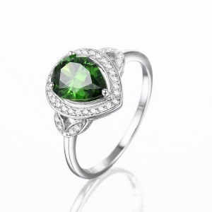 Emerald Color CZ Ring