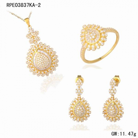 Wholesale 18K Gold Jewelry Set Dubai Design 2017 18K Gold Jewelry