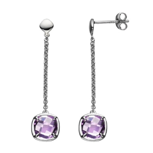 Cushion Amethyst  Earring