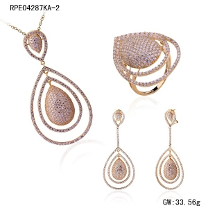 Yellow Gold Jewelry Set
