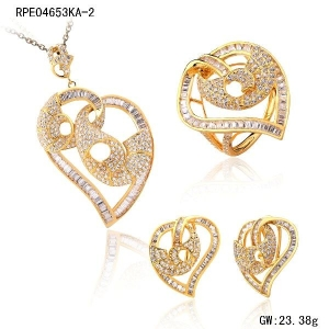 18K Yellow Gold Jewelry Sets