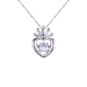 Silver Crown Shape Dancing Jewelry Pendant