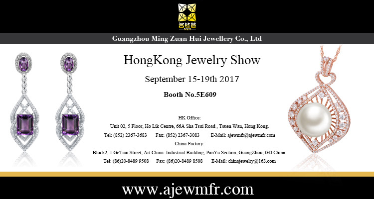 Welcome to visit our booth in September HK Jewelry Fair(Date:15th-19th)